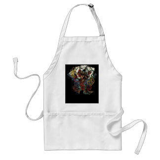 Snake Gun And Roses Poker Cards Standard Apron