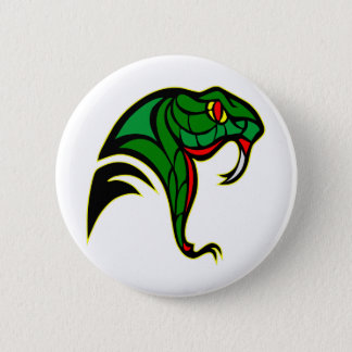 Snake Head Tattoo 6 Cm Round Badge