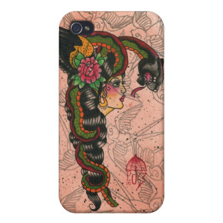 Snake Lady iPhone 4 Cases