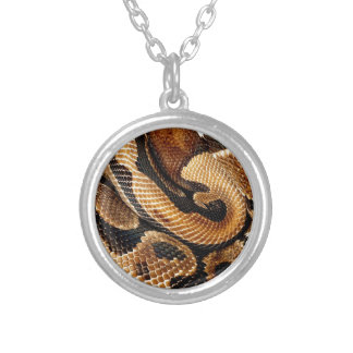 snake lovers Ball Python Round Pendant Necklace