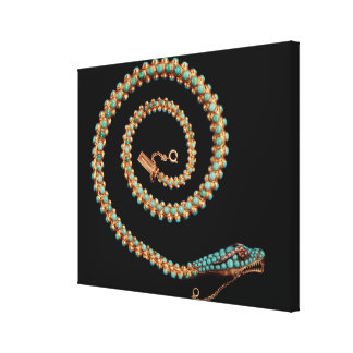 Snake necklace, 1844 canvas print