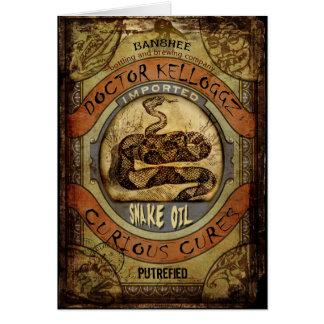 Snake Oil Greeting Card