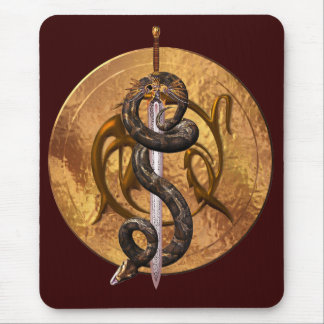 Snake on a Sword Mouse Mat