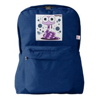Snake(Purple) Backpack, Navy Backpack