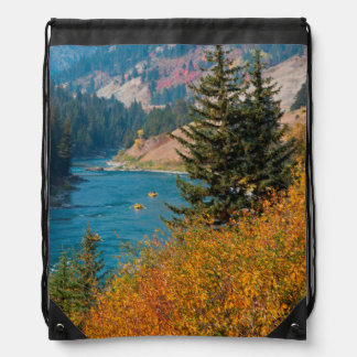Snake River Canyon In Autumn Drawstring Bag