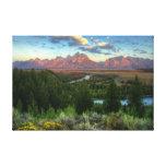 Snake River Overlook at Sunrise Stretched Canvas Prints
