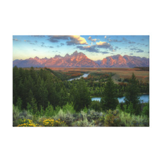 Snake River Overlook at Sunrise Canvas Print