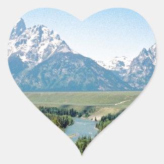 Snake River Overlook Heart Sticker