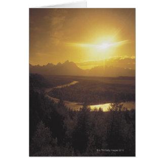Snake river plain , Wyoming Card