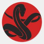 Snake Round Stickers