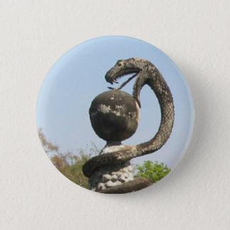 Snake, Sala Keo Kou, Nong Khai, Thailand 6 Cm Round Badge