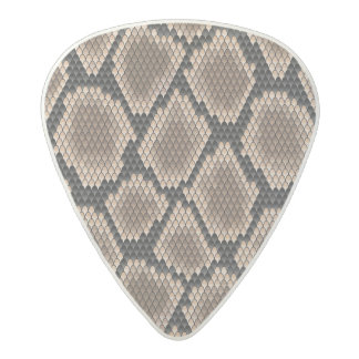 Snake skin acetal guitar pick