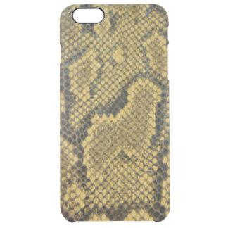 Snake Skin Black Gold Brown Clear iPhone 6 Plus Case