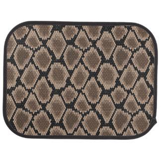 Snake skin car mat