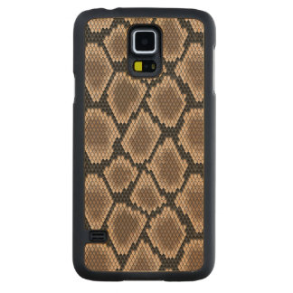 Snake skin carved® maple galaxy s5 case