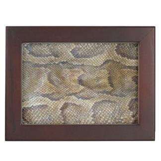Snake Skin design matching jewelry set Keepsake Box