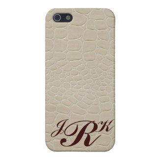 Snake Skin Design Monogram iPhone 5 Cases