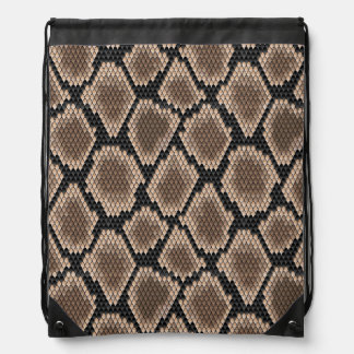 Snake skin drawstring bag