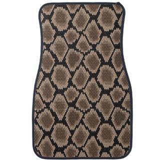 Snake skin floor mat