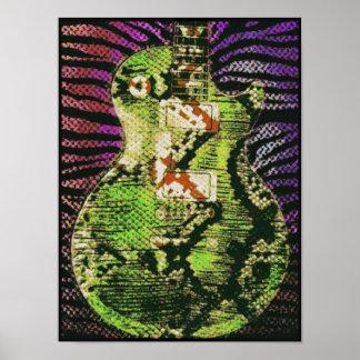Snake Skin Guitar Poster