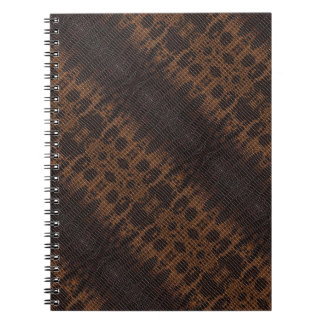 Snake Skin Leather Notebook 4a -