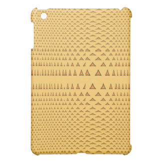 Snake Skin Orange Aztec Triangle Pattern Gifts Cover For The iPad Mini