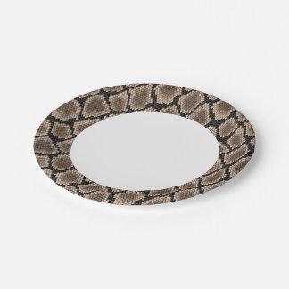 Snake skin paper plate