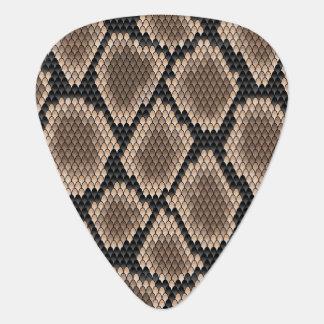 Snake skin plectrum