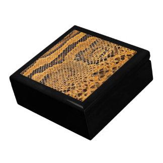 Snake Skin Print Jewerly Box