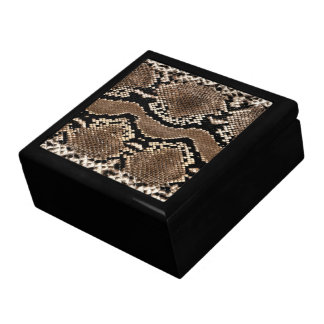 Snake Skin Print Jewerly Box Large Square Gift Box