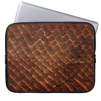 Snake Skin Print Laptop Sleeve