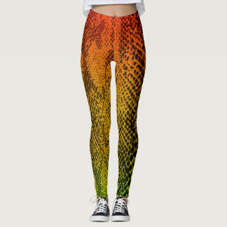 Snake Skin (Rasta Colour) Leggings