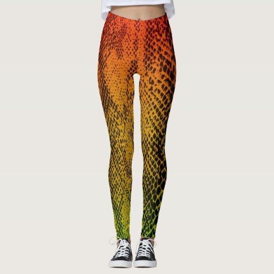 Snake Skin (Rasta Colour) Leggings