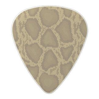 Snake skin, reptile pattern acetal guitar pick