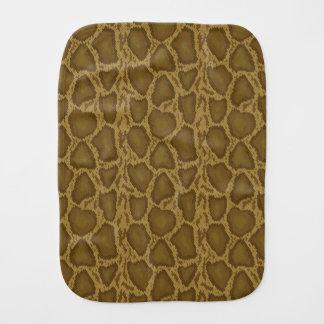 Snake skin, reptile pattern burp cloth