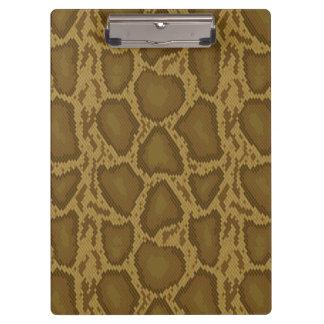Snake skin, reptile pattern clipboard