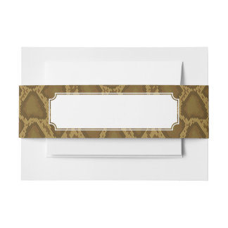 Snake skin, reptile pattern invitation belly band