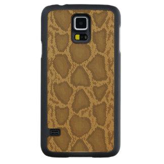 Snake skin, reptile pattern maple galaxy s5 slim case