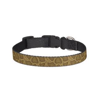 Snake skin, reptile pattern pet collar