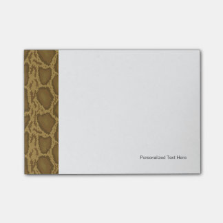 Snake skin, reptile pattern post-it notes