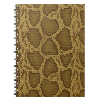 Snake skin, reptile pattern spiral notebook