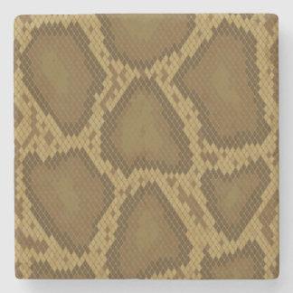 Snake skin, reptile pattern stone coaster
