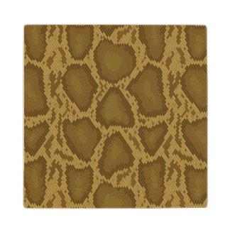 Snake skin, reptile pattern wood coaster