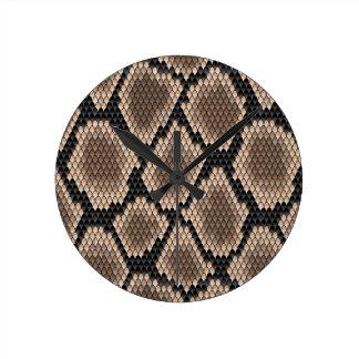 Snake skin round clock