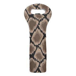Snake skin wine bag