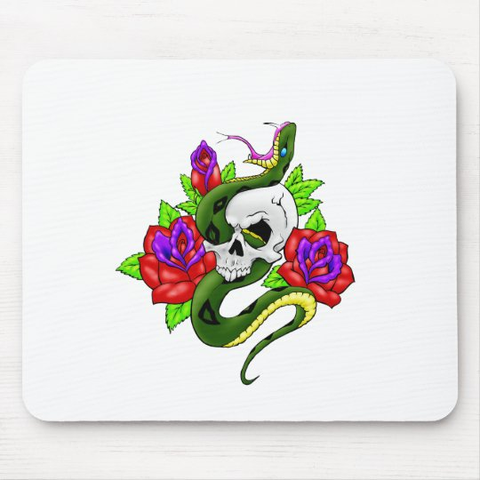 Snake, Skull, and Skull Mouse Mat