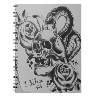 snake skull note pad note book
