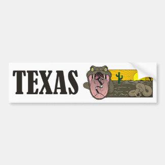 Snake State of Texas, USA: Rattlesnake and desert Bumper Sticker