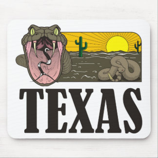 Snake State of Texas, USA: Rattlesnake and desert Mouse Pad