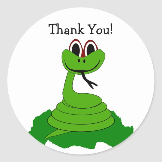 Snake Thank You Sticker